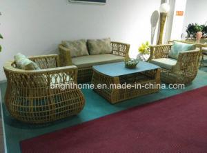 ラウンジの屋外の家具のプラスチック藤の屋外の家具のソファーセット