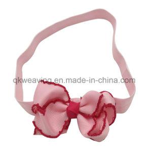 Hoofdbanden van de Toebehoren van het Haar van de Boog van het Lint Grosgrain van de baby DIY de Elastische