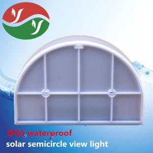 La energía solar Semi-Circle Derechos de la inducción de color blanco puro de la luz de pared Jardín