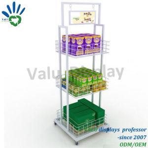 Lebensmittelgeschäft-Waren-Bildschirmanzeige-Zahnstange mit Rädern für Verkaufs-Bildschirmanzeige-Kostenzähler