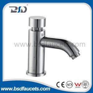 Verspätung-Kupfer-Wasser-Hahn-Chrom überzogener Drucktaste-Hahn