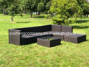 7pcs Kd ocio moderno El Mimbre Rattan Inicio Hotel El Patio al Aire Libre de oficina mobiliario de jardín sofá