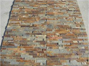Quartzite naturelles de l'ardoise Placage de pierre panneau mural pour revêtement mural