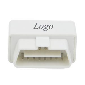 Mini interfaz personalizada ELM327 Bluetooth Auto Scanner OBD2 blanco