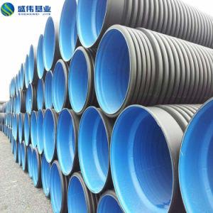 Tubo di plastica doppio ondulato leggero di drenaggio
