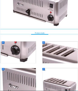 6slicers를 가진 세륨 Approved Hot Sales Commerical Toaster