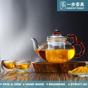 De Pot van de Thee van het Glas van Boroslicate met Infuser en Filter