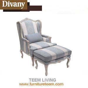 Muebles de estilo francés de la moda de la esquina de un diseño simple sofá