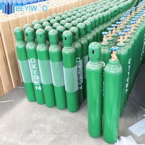 Cilindro di ossigeno d'acciaio vuoto ad alta pressione della bombola per gas dell'acciaio senza giunte