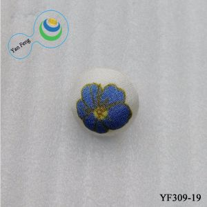 16mm nouvelle fleur imprimé Couture à la main bouton couverts de tissu