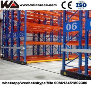 Entrepôt mobile électrique Rack pour le stockage de palettes avec Rail au sol