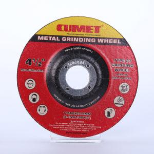 4.5 '' hanno depresso il disco di molatura del centro per l'abrasivo di Inox del metallo (115X6X22.2mm) con i certificati del MPa