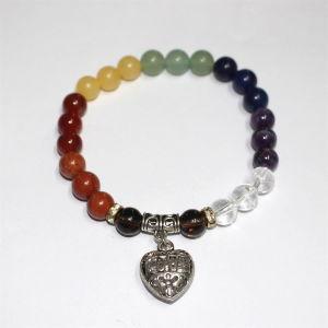 Bracelet de charme à l'agate de pierre naturelle à la mode