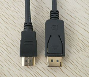 Chapado en oro de 28AWG Displayport a HDMI Cable 10 m.