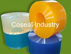 Deur van het Gordijn van de Strook van pvc van de koude Opslag de Plastic