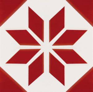 De rode Mediterrane Stijl Verglaasde Tegel van de Vloer van het Porselein (20*20cm)