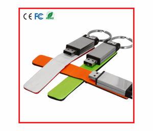 Цветные кольца для ключей из натуральной кожи USB накопитель USB Flash Disk