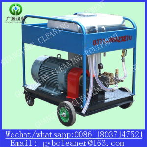55kw het dubbele Schoonmakende Water die van het Kanon Machine voor de Verwijdering van de Roest zandstralen