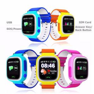 GelbertスマートなQ90 GPSの追跡者の追跡者の赤ん坊のスマートな腕時計