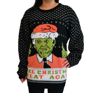 2020 Nuevo diseño de los hombres y mujeres Navidad tejida de puente de los hombres feo feo gracioso suéter de Navidad