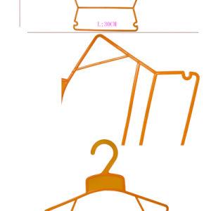子供の衣服のための薄く平らなプラスチックボディ形のハンガー