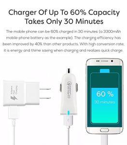 Samsung Galaxy примечание 8 зарядное устройство адаптивной быстрое зарядное устройство типа C комплект кабеля USB 2.0, Boxgear - Быстрая настенное зарядное устройство + Fast автомобильное зарядное устройство + 2 - Тип C