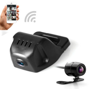 Car DVR автомобильный WiFi камера Digital Video мини-Dash Cam Видеорегистратор Видеокамеры Full HD 1080P с двумя объективами DVR