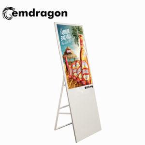 La publicité à l'intérieur portable 43 pouces écran LCD OEM de signalisation numérique LCD affichage publicitaire Sixe vidéo Lecteur Vidéo en anglais