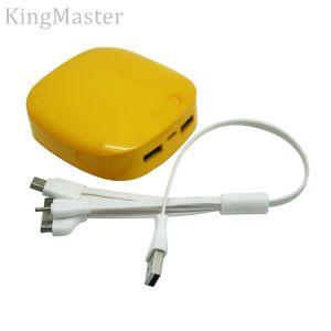côté en plastique du pouvoir 4600mAh pour le téléphone avec la batterie rechargeable de câble