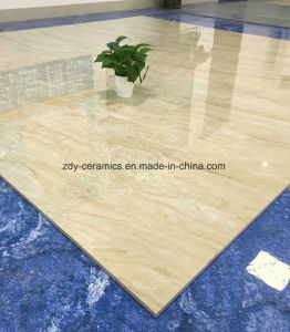 構築の装飾的で完全な磨かれた艶をかけられた床張りの石造りのタイル