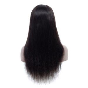 18inch Full Lace Wig Virgin Remy Cheveux humains cuticule aligné directement de la soie noir naturel