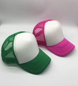 A cor de contraste de malha de espuma Caminhoneiro Blank Baseball Hat Sport Cap