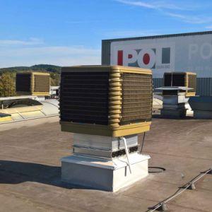 Refrigerador de ar industrial de Evporative do ventilador de ventilação do sistema refrigerando sem água