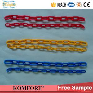 Jm259p PE Cadena de eslabones de plástico de advertencia de seguridad de la barrera de la cadena de plástico de tráfico