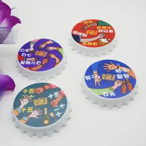 Apri di bottiglia di plastica della protezione della birra di torsione con il marchio stampato