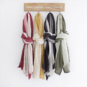 女性2トーン・ブロックカラービスコーススカーフ(YKY1128)