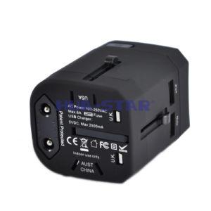 Adaptador de viaje personalizado de profesionales con un cargador USB (HS-T107DU)