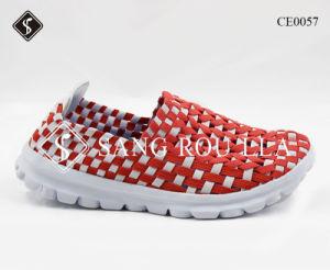 La máxima calidad a las mujeres tejen Ocio zapatos con suela de la luz
