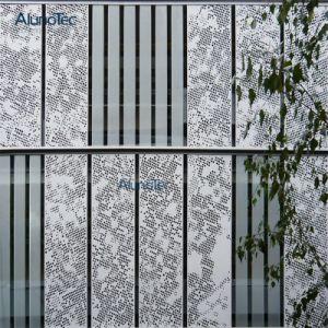 Het buiten BouwComité van het Aluminium van de Gordijngevel van het Aluminium van de Voorzijde Geperforeerde