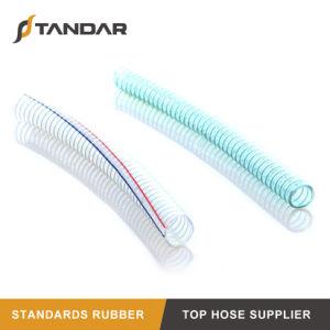 Espiral de PVC de 6 polegadas de fio de aço de borracha reforçada