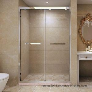 Gabinete de chuveiro de aço inoxidável grosso vidro corrediço de porta personalizado de banho de chuveiro