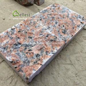 中国の赤い花こう岩の私道の玉石の敷石、テラスの立方体の石のペーバー