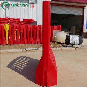 63'' LLDPE moldeo rotacional de plástico de alta barrera llenas de agua cerca de la seguridad del tráfico de esgrima del vehículo