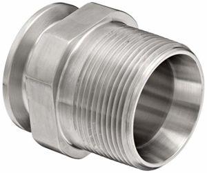 G3/4 macho Adaptador de la abrazadera de acero inoxidable 304 SS316L
