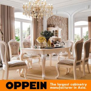 Tabella di lusso della sala da pranzo della mobilia di legno solido ...