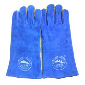 Промышленная безопасность сварки перчатки из натуральной кожи термостойкий рабочие перчатки