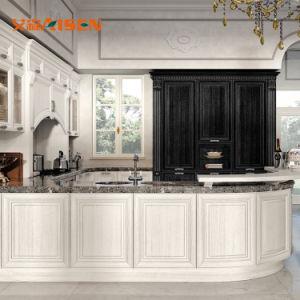 Armadio da cucina di legno di stile della casa dell'hotel dell'isola europea moderna della mobilia