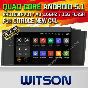 Citroce 새로운 C4l를 위한 Witson 인조 인간 5.1 차 DVD GPS