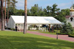 結婚披露宴のイベントPVC屋外の大きい円形のテント