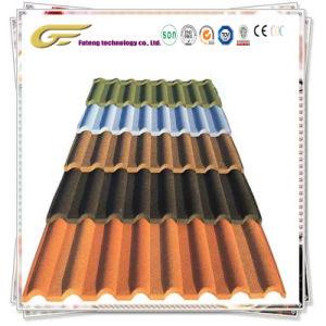 Roofing Stahlblech-materieller Stein-überzogene Metalldach-Fliese